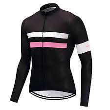 <b>FUALRNY</b>® Men's <b>Long</b> Sleeve Cycling Jersey Pink Bike Jersey ...