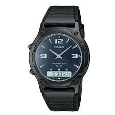 Casio <b>Men's</b> Classic Analog Digital Casual <b>50M</b> Dual Time Alarm ...