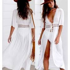 Women Summer Lace Crochet <b>Bikini Cover</b> Up Swimwear Bathing ...