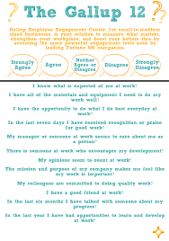 why should anyone join your business and what makes great employee the gallup 12