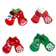<b>4pcs Lovely Cute</b> Christmas Dog Socks – <b>Pet</b> Clever