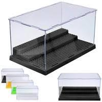 <b>1pc</b> 3 Steps <b>Display Case</b>/Box Dustproof ShowCase Gray Base for ...