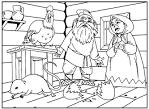 Сказка раскраска курочка ряба
