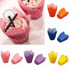 Akoyovwerve <b>50Pcs</b> Yellow Paper <b>Cake Cupcake</b> Baking Cup ...