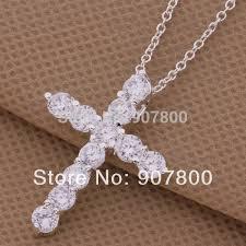 Оптовая продажа циркон <b>серебряный крест</b> ожерелье ...