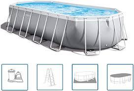 <b>Intex</b> 20Ft X 10Ft X 48In <b>Prism Frame Oval</b> Pool Set: Amazon.co.uk ...