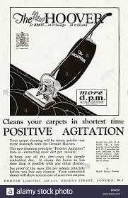 vacuum cleaner advert stock photos vacuum cleaner advert stock full page advertisement for hoover upright vacuum cleaner in magazine dated 1928 stock image