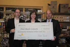 citifinancial donates to food banks citifinancial inc centre katharine schmidt executive director food banks right scott wood president citifinancial