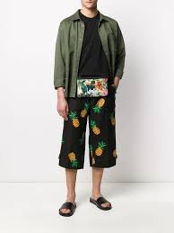 <b>Dolce</b> & <b>Gabbana Pineapple</b> Print Cropped Trousers - Farfetch