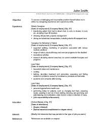 caregiver jobs example of caregiver samples generic resume examples