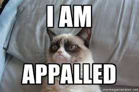 I am Appalled - Grumpy cat good | Meme Generator via Relatably.com