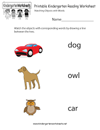 Printable Kindergarten Reading Worksheet - Free English Worksheet ...Printable Kindergarten Reading Worksheet