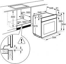 electrolux eob3400bow white electric single oven available from electrolux eob3400bow white electric single oven technical diagram technical diagram