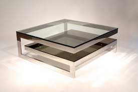 adorable two tier contemporary mirrored coffee table glass top with stainless steel base for modern furnishing designs adorable glass top office