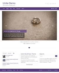 50 best wordpress themes 2016 modern clean unite wordpress wedding theme