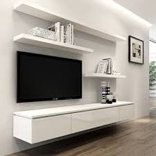 floating entertainment <b>unit</b> - Google zoeken | Living room <b>tv wall</b> ...