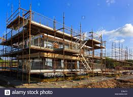new build house under construction on a building site near stock new build house under construction on a building site near kilmarnock ayrshire scotland