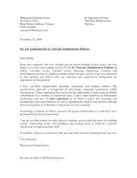 network administrator cover letter cover letter network administrator
