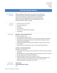 waiter resume samples templates and tips this is a waiter resume sample if you need a job description this will