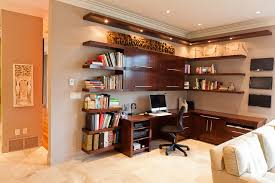 custom desk contemporary home office built in home office cabinets