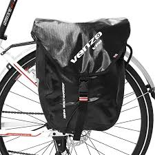 Venzo 600D Polyeste <b>Waterproof Bike Bicycle</b> Rear <b>Pannier Bag</b>