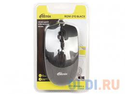 <b>Мышь Ritmix ROM-210 Black</b> USB — купить по лучшей цене в ...