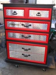 an idea for refurbishing dresser for the garage need to change the handles though car themed bedroom furniture