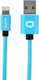 Кабель <b>Qumo MFI</b> С48 USB-Apple 8 pin, 1,2 м Blue (30023 ...
