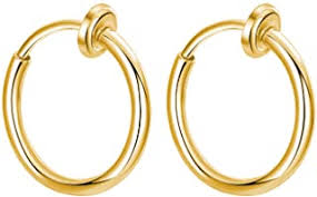 Gold - Earrings / Men: Jewellery - Amazon.in