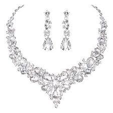 Amazon.com: Youfir <b>Bridal Austrian Crystal</b> Necklace and Earrings ...