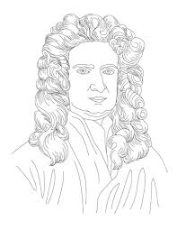 isaac newton face coloring page for kids kids coloring pages isaac newton face coloring page for kids