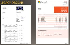 install the modern report design templates dynamics for examples of a legacy design for a s invoice and a modern s invoice