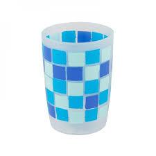 Квадраты синие <b>Стакан д/зубных щеток</b>