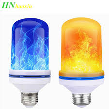 2019 HaoXin <b>E27</b> 85 265V <b>LED</b> Flame Effect <b>Bulb</b> Fire <b>Light</b> Gravity ...