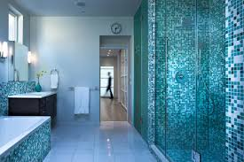 blue bathroom tile ideas:  images about bathroom on pinterest mosaic wall shower