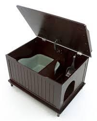 the designer catbox litter box enclosure in espresso catbox litter box enclosure