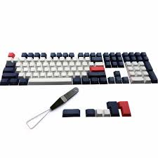 <b>PBT Keycaps Chalk Keyset</b> ANSI/ISO Side Printed Cherry MX Cap ...