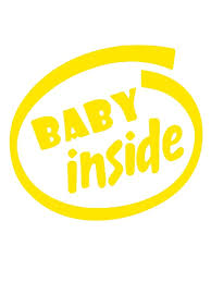 <b>Car</b> Sticker Reflective Tape Baby Inside Letter Design <b>Volkswagen</b> ...