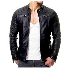 OMINA Casual Leather <b>Jacket</b> for Men, <b>2019 Fashion</b> Casual ...