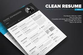 clean resume template on behance