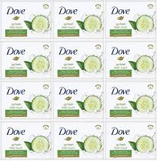 Dove - Fresh Touch Soap <b>Bars</b> - Cucumber & Green Tea <b>Scent</b> - (12 ...