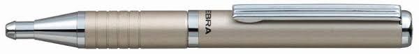 Ручка шариковая <b>Zebra SLIDE BP115-SV</b> (<b>шампань</b>)