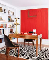 red black home office home office decor dvf style better decorating bible red artwork black white black shag rug home office