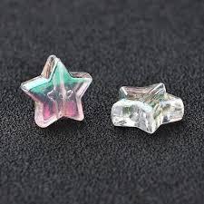 500g Clear AB <b>Color</b> Star Acrylic Bead <b>Transparent</b> Pony Beads ...