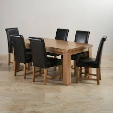 chunky dining table and chairs this modern dining set combines a magnificent ft chunky dining table with  braced scroll back