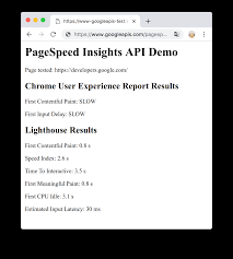 Get Started with the PageSpeed Insights API | Google Developers