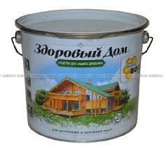 <b>Деревозащитное средство Здоровый</b> дом Рябина Лакра, 3л в ...