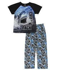 quad seven big boys shark attack piece quad seven big boys shark attack 2 piece pajamas sizes 8 20