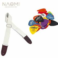 <b>NAOMI 10 Pcs Guitar</b> Picks & 1 Pcs <b>Guitar</b> Strap For <b>Guitar</b> Electric ...