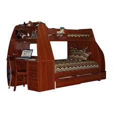 interior brown wooden bunk bed bunk beds desk drawers bunk